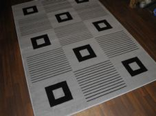 Modern Approx 8x5ft 160x230cm Great Bargains Silver-Black Top Quality New Rugs